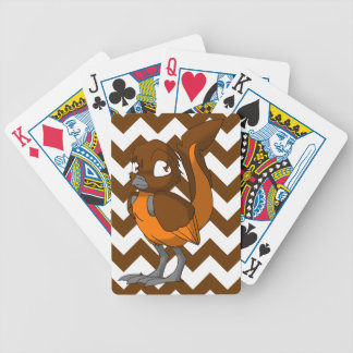 Brown/Orange Reptilian Bird w/ Chevron Back 1 Poker Cards