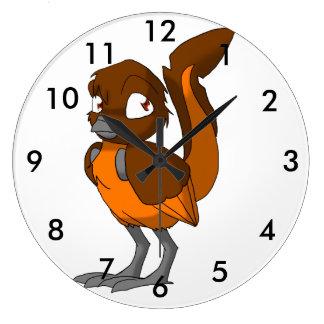 Brown/Orange Reptilian Bird Wallclock