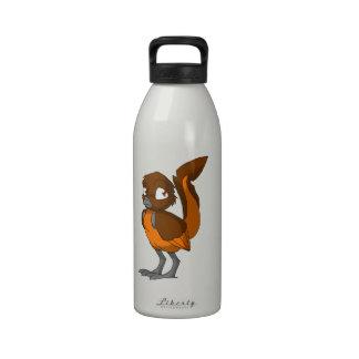 Brown/Orange Reptilian Bird Water Bottle