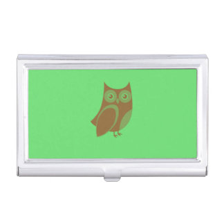 Brown Owl Business Card Holder
