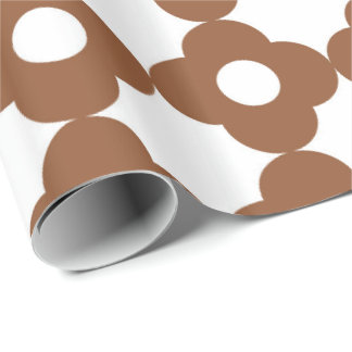 Brown Paper Lattice Wrapping Paper