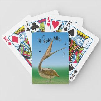 Brown Pelican Singing Playing Cards