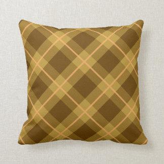 Brown plaid pillow