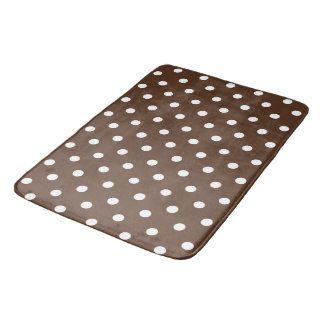 Brown Polka Dot Bath Mat