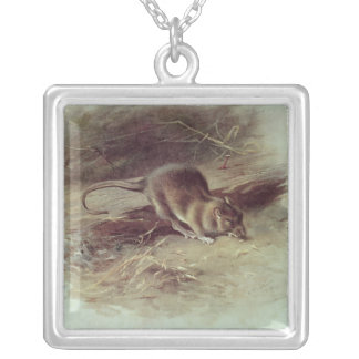 Brown Rat  1918 Silver Plated Necklace