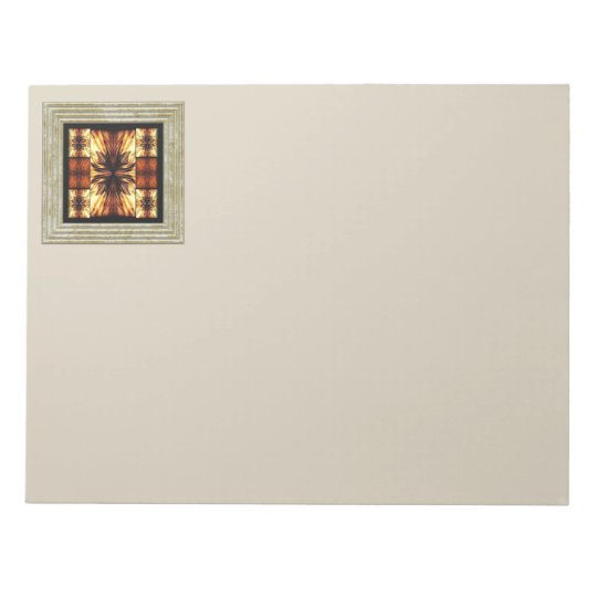 Brown Retro Pattern Notepad