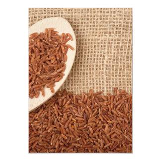 Brown rice 13 cm x 18 cm invitation card
