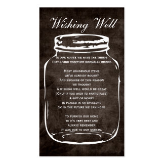 brown rustic mason jar wishing well cards pack of standard business cards