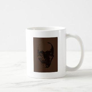 Brown Skull Basic White Mug