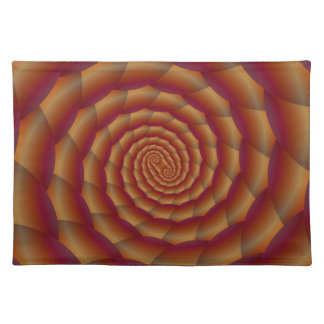 Brown Snakeskin Spiral  Placemats