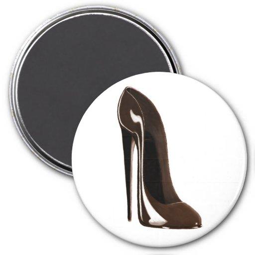 Brown Stiletto Shoe Magnets