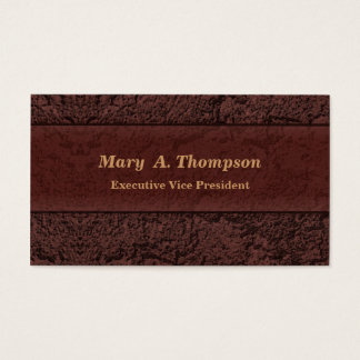 Brown Stucco Texture Business Card