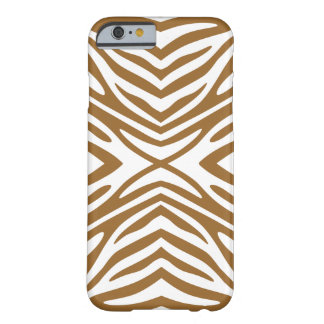 Brown Sugar Neutral Zebra Barely There iPhone 6 Case
