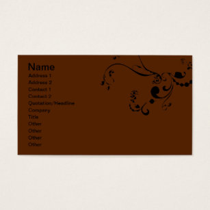 20 pretty blank business cards and pretty blank business card brown swirls business card reheart Images
