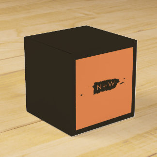 Brown Tangerine Puerto Rico Theme Wedding Party Favour Boxes