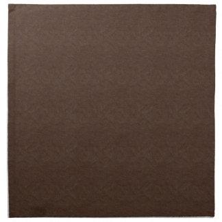 Brown Textured Leather Napkin