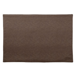 Brown Textured Leather Placemat