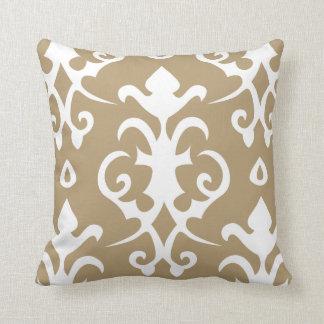Brown Vintage Pattern Damask Pillow