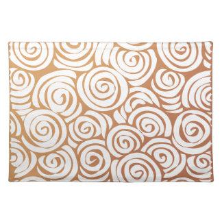 Brown Vintage Swirls placemat