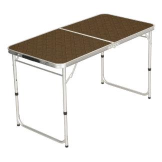 Brown Wicker Look Pong Table