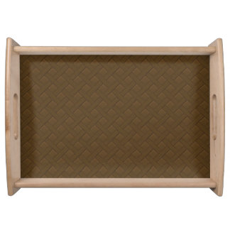 Brown Wicker Look Serving Platter