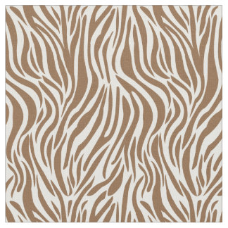 Brown zebra geometric home decoration fabric