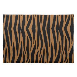 Brown Zebra Stripes Placemat