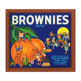 Brownies Brand Citrus Crate Label Gallery Wrap Canvas