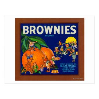 Brownies Brand Citrus Crate Label Post Card