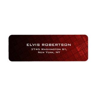 Brownish Red Plain Elegant Contemporary Unique Return Address Label