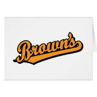 Brown's in Orange Greeting Cards