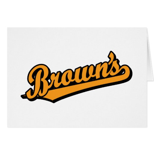 Brown's in Orange Greeting Cards