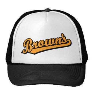 Brown's in Orange Mesh Hat