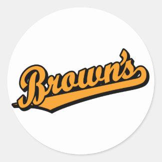 Brown's in Orange Round Sticker