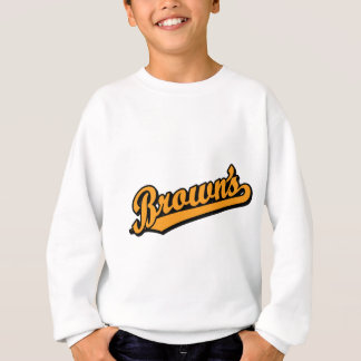 Brown's in Orange Sweatshirt