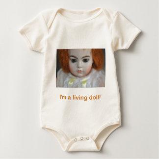 Bru Jumeau Doll Antique photograph Baby Bodysuit