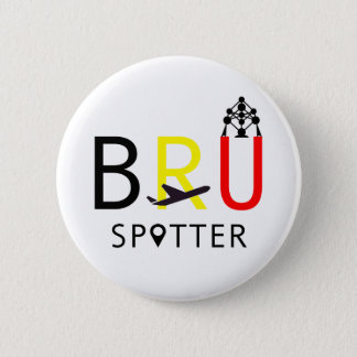 BRU Spotter 6 Cm Round Badge