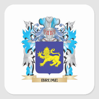 Brume Coat of Arms Square Stickers