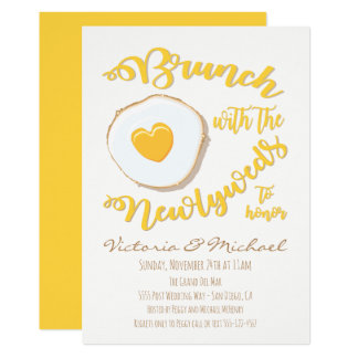 Brunch with the newlyweds Post Wedding Card
