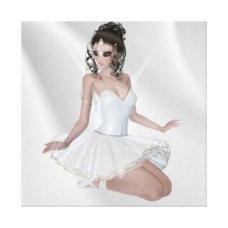 Brunette Ballerina Premium Wrapped Canvas (Gloss)