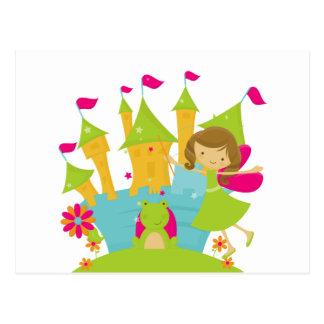 Brunette Fairy Princess Postcard