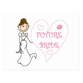 Brunette Future Bride Tshirts and Gifts Postcard
