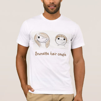 Brunette hair couple - Boyfriend T-Shirt