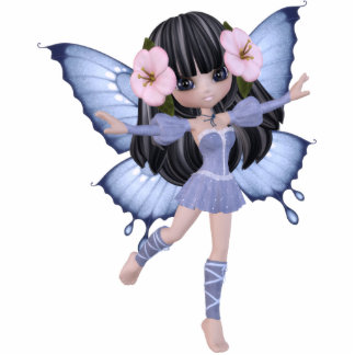 Brunette Princess Butterfly Magnet Acrylic Cut Out
