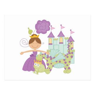 Brunette Princess Postcard