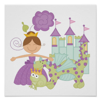 Brunette Princess Posters