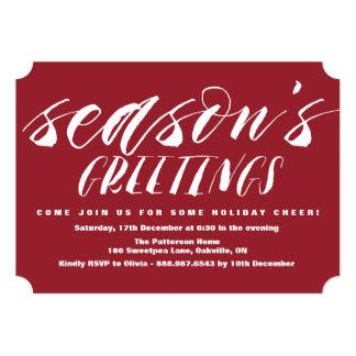 Brush Script Season's Greeting Holiday Invitation
