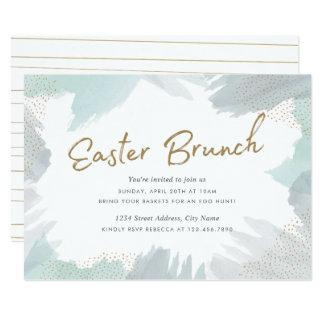Brush Strokes Easter Invite
