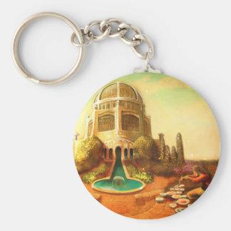 Brush Temple Key Ring