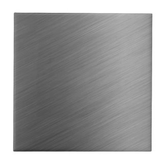 Brushed Aluminum Metal Look Tile